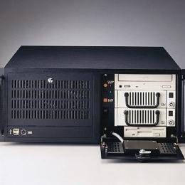 """Châssis industriel silencieux 4U pour PC rack 19"""" PICMG1.0 et 1.3"""