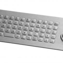 Clavier inox 64 touches carrées avec trackball