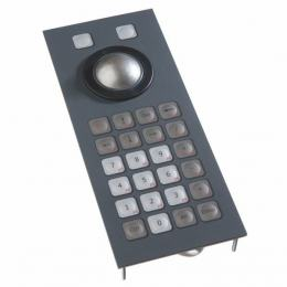 Clavier trackball 38mm encastrable 26 touches IP65 USB
