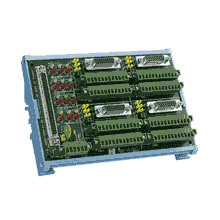 Bornier ADAM pour carte d'acquisition de données, 4-Axis 100-pin SCSI DIN-rail motion wiring board