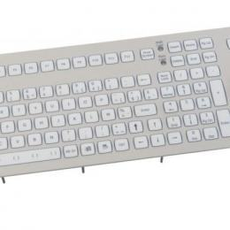 Clavier industriel encastrable 105 touches avec Trackball de 50mm IP67 USB FR: AZERTY