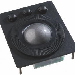 Trackball industrielle / Trackball - montage en panneau - Boule technologie laser de 50mm - évacuation des liquides - 100 x 116 x 40 mm - IP68