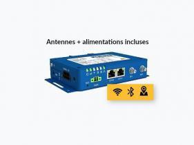 Routeur 4G industriel 2 ethernet, 2 x série, WiFi, GPS et Bluetooth + accessoires