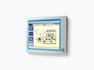 """Ecran industriel tactile 19"""" (résistif) avec VGA et DVI  IP65 en façade avant"""