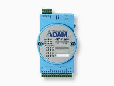 Module ADAM 8 entrées et 7 sorties digitales compatible Modbus/TCP + 2 ports ethernet