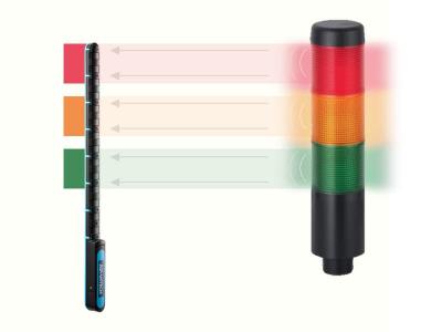 Capteur intelligent pour colonne lumineuse industrielle