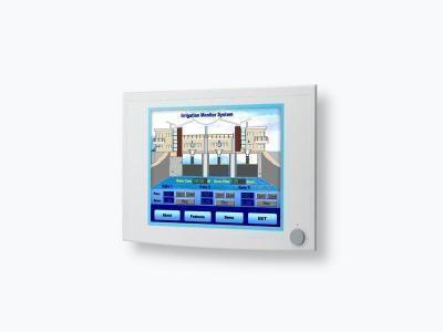 """Ecran industriel tactile 15"""" (résistif) avec VGA et DVI IP65 en façade avant"""