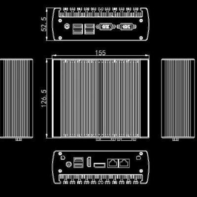 IOT-BOX-DS105N13L2-UBUNTU PC fanless i3 8Go RAM 256Go SSD Ubuntu 20.04