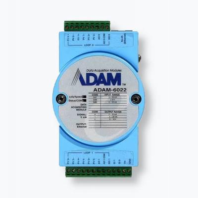ADAM-6022 Module ADAM 2 boucles PID, compatible Modbus TCP