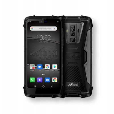 """AP5801 Smartphone durci 5.84"""" Android 9 étanche / 6Go de RAM et 128Go ROM avec cardiomètre et détecteur de gaz"""