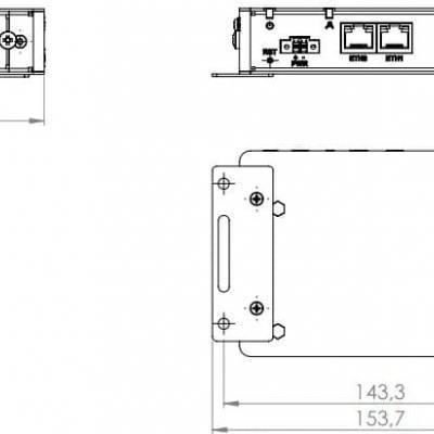 ICR-3201 Routeur ethernet industriel avec  2 ports RJ45, 1x RS232, 1x RS485