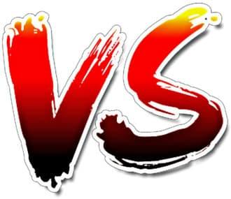 Signe de la comparaison ou versus qui représente la comparaison